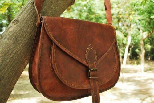 Femme Nouveau cuir véritable marron épaule Messenger Cross Body Vintage Sac
