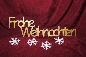 Frohe Weihnachten Gold.Details Zu Schriftzug Frohe Weihnachten Dekoration Tischdekoration Holz Natur Od Acryl Gold