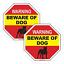 2 Pack Beware of Dog Warning Sticker Beware Beware of Pitbull Window Sticker