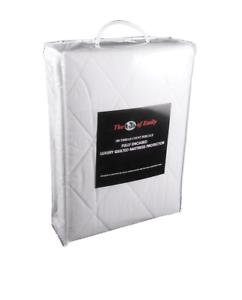 Bunk Bed Mattress Encasement Protector Quilted Small Single Caravan Zip Closure