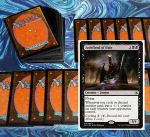 mtg BLACK CYCLING DECK Magic the Gathering rares 60 cards archfiend of ifnir