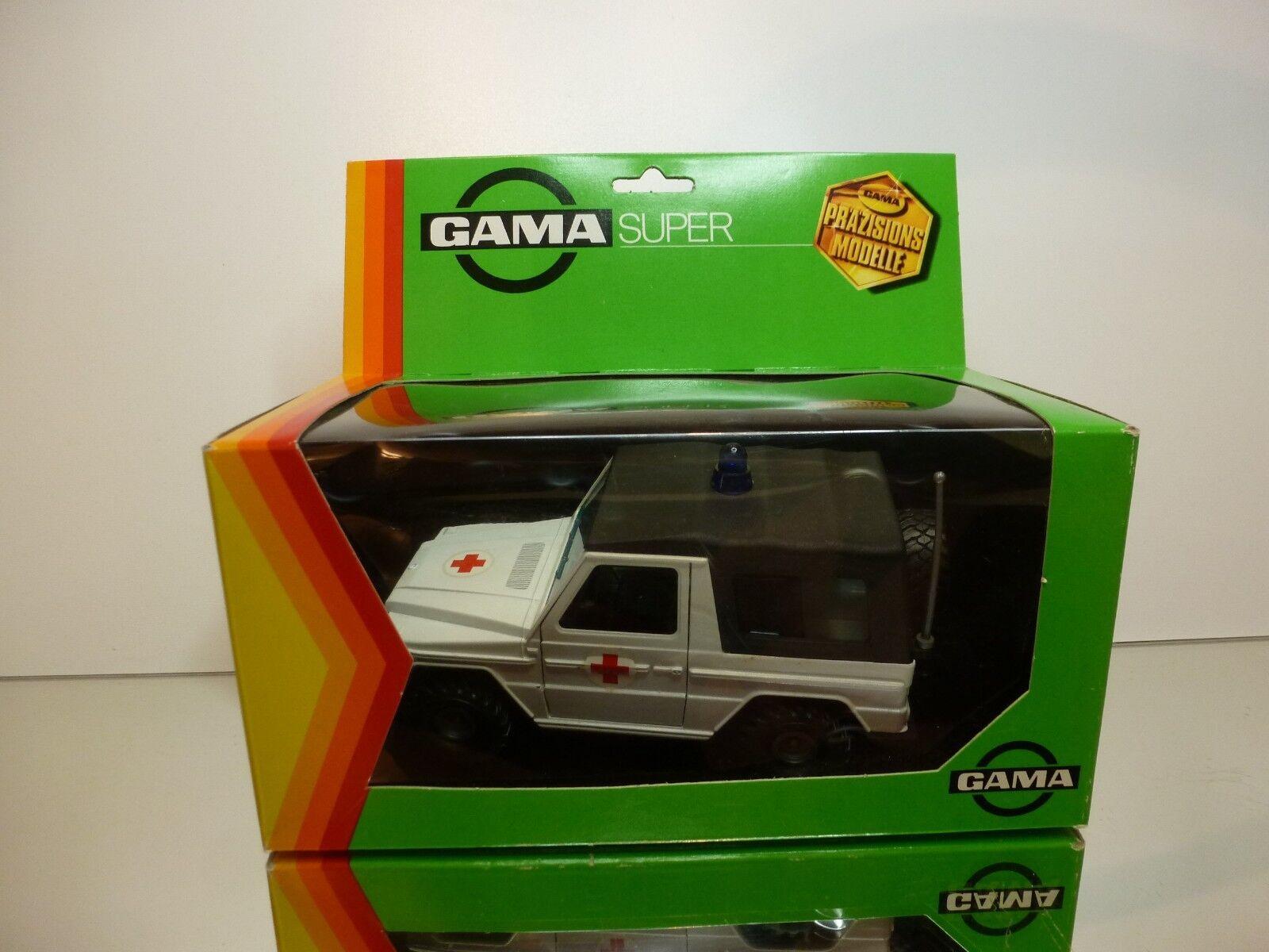 GAMA SUPER 4451 MERCEDES BENZ G-CLASS  RETTUNGSWAGEN - 1  24 - VERY GOOD IN BOX  grosses économies