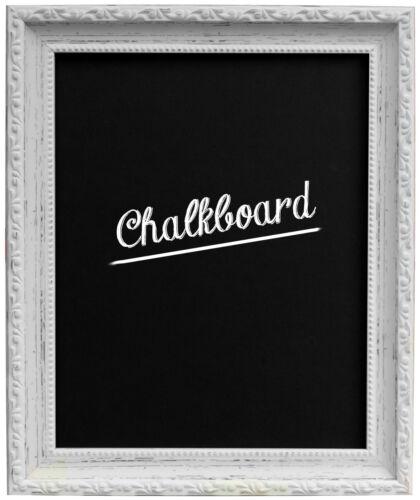 Shabby Chic encadrée tableau noir en Noir Blanc Argent Or Bronze Bois