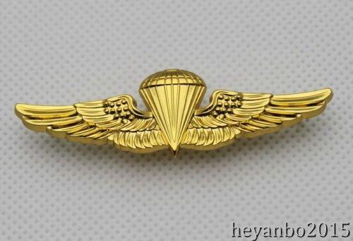 WWII US NAVY PARACHUTE PARACHUTIST LANDINGS WINGS PIN BADGE 0104