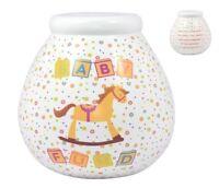 Pot Of Dreams Ceramic Gift Money Box/ Pot BABY FUND (52024)  Break To Open
