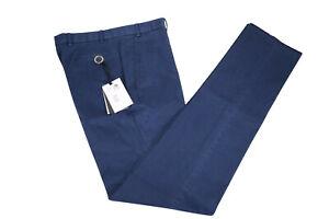 Hiltl-NWT-034-Dayne-034-Flat-Front-Cotton-Stretch-Pants-Size-34R-In-Medium-Blue