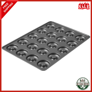 Mega Doughnut Pan 20 Cavity Non-Stick Coating Easy Release Durable Construction
