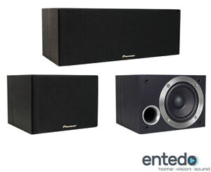 Pioneer-S-ES21CR-K-Center-Surround-Lautsprecher-Set-Heimkino-Speaker-Box-Schwarz