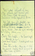 JIMI HENDRIX Handwritten Lyrics - 'Crosstown Traffic' - Rock Star - preprint