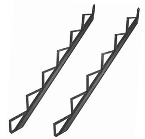 Treppenwange Treppenwangen Treppenrahmen Alu Schwarz 2 6