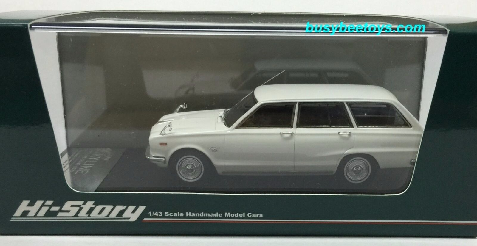 1 43 HI STORY HS123WH 1970 NISSAN SKYLINE 1800 VAN DELUXE WAGON scale model car