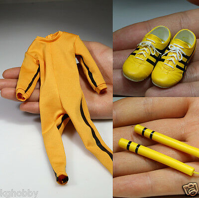 Bruce Lee 1/6 Game of Death Jumpsuit Nunchaku for Hottoys Enterbay Body Figure