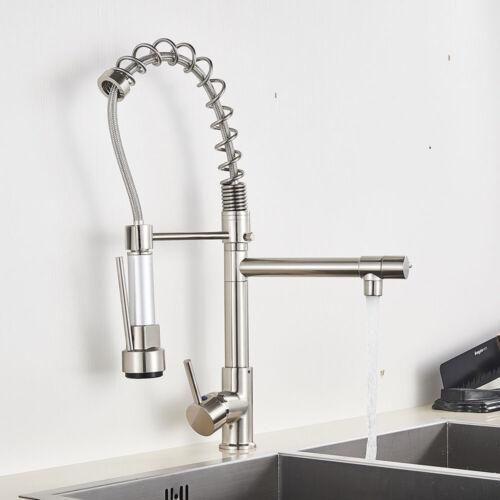 Küchenarmatur Mit Brause Ausziehbar Mischbatterien Küche Einhandmischer Nickel