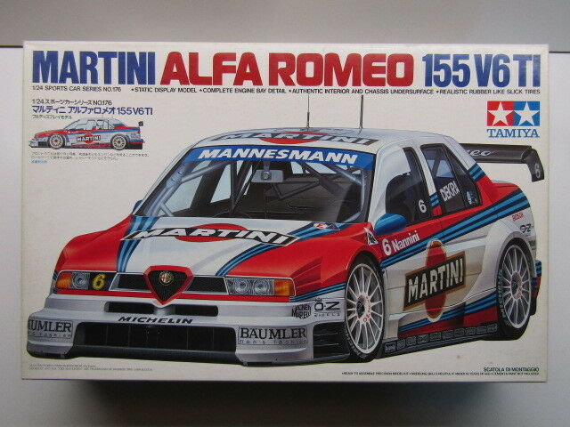 Tamiya 1 24 Scale  Martini  Alfa Romeo 155 V6 TI DTM Model Kit - New -