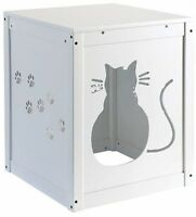 Cat Litter Hide Away End Table Night Stand Accent Tables Furniture Cabinet Box on Sale