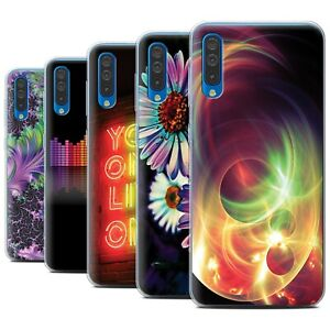 STUFF4-Gel-TPU-Phone-Case-for-Samsung-Galaxy-A50-2019-Neon-Colours