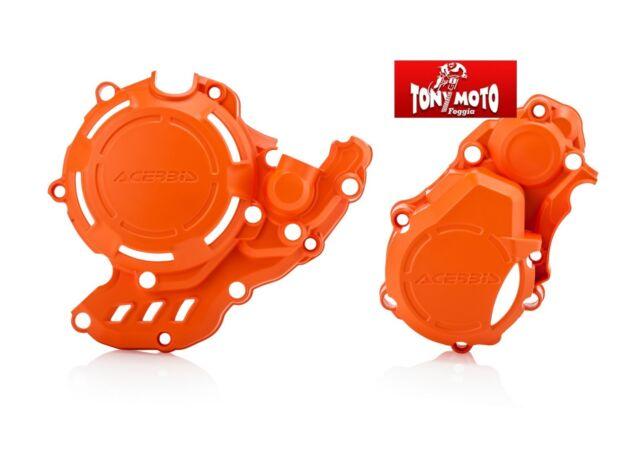 PROTEZIONE CARTER X-POWER KTM EXC-F HUSQVARNA FE 250 350 ARANCIO 2017 >2021