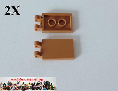Lego 4 x Fliese Fahne Flagge 30350 weiß  2x3 mit Clip