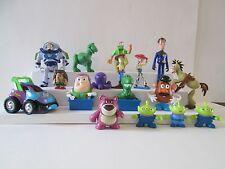 17 pc lot Disney Pixar Toy Story figures Buzz Woody Jessie Bullseye car Aliens