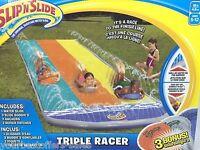 Inflatable Slip N' Slide Triple Outdoor Water Toys Water Slide Outdoor Equipment