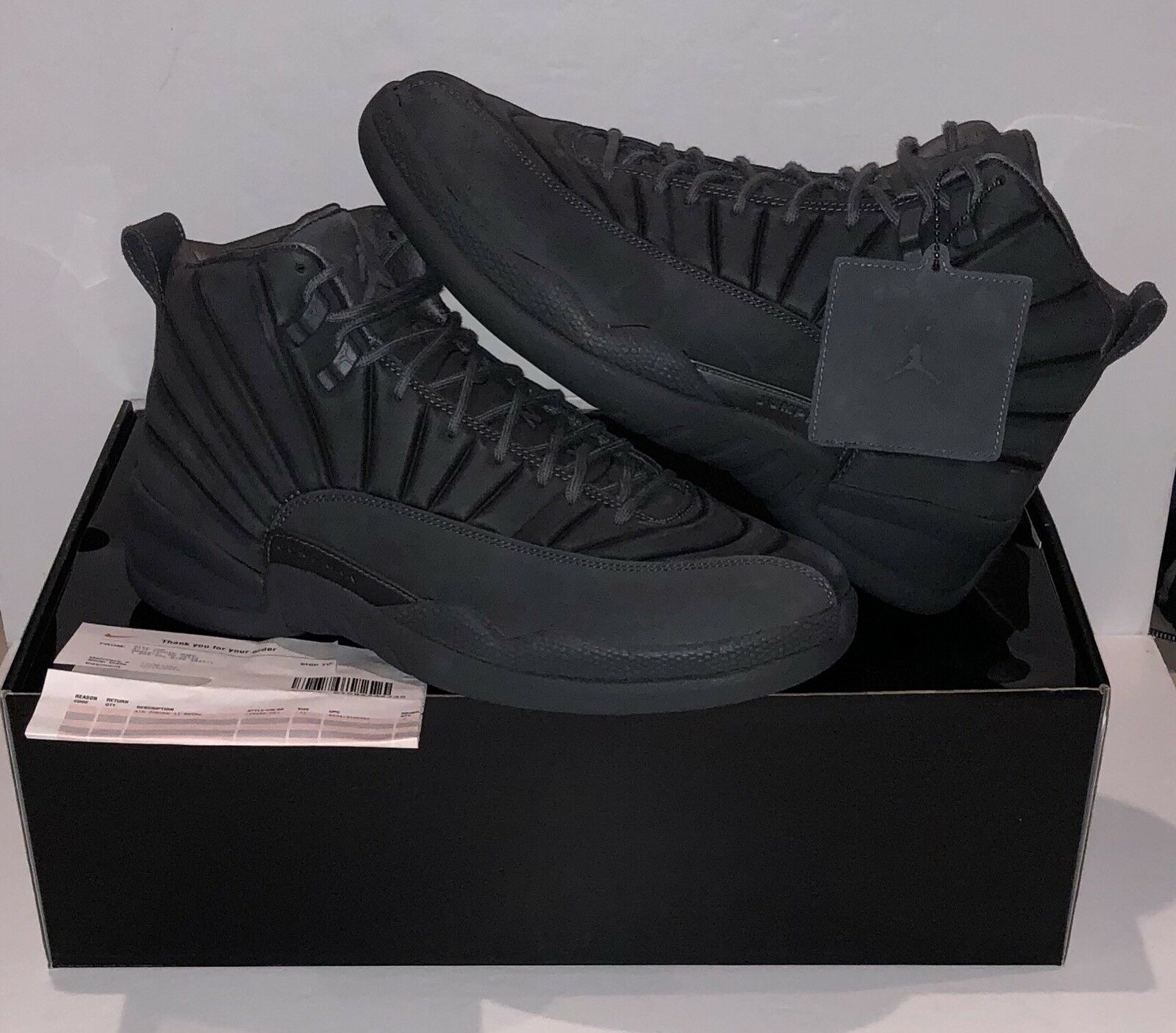 NIKE Air Jordan 12 Retro PSNY Grey Size 11 w  Receipt