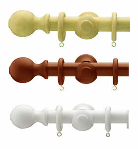 23mm Wooden Curtain Pole Choice Of Colours Amp Size Ebay