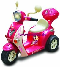 Elektro Kinder Roller Motorrad Auto Elektroauto Kinderroller Pink Rosa 77p