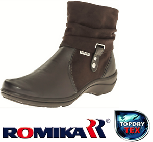 Details about Romika Shoes Germany Waterproof Topdry Tex comfort ankle boots  - Cassie 12 a5d04eb8f