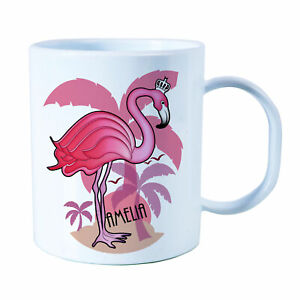 Details about Personalised Flamingo Plastic Mug Children's Birthday Gift  Juice Cup Any Name