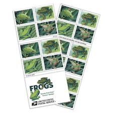 USPS New Frogs Booklet of 20 Stamps