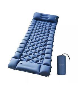 FRETREE Camping Air Sleeping Pad Mat - Foot Press Inflatable Lightweight Back...