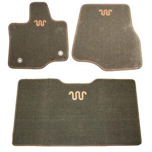oem new 2015 2017 ford f 150 king ranch 3 piece contour floor mat kit espresso ebay. Black Bedroom Furniture Sets. Home Design Ideas
