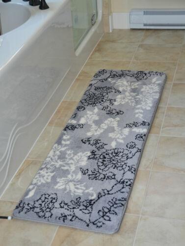 """1pc Luxury Diamond Long Rug Memory foam bathmat,size 64/""""x20/""""non-slip back runner"""
