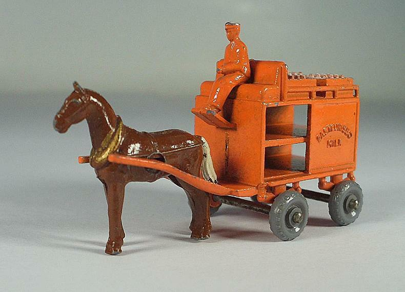 Matchbox regular Wheels nº 7 a Horse drawn float arancia gpw Lesney