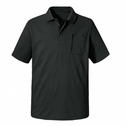 Schöffel Arizona1 asphalt Herren Poloshirt T-Shirt Dunkelgrau  | Gute Qualität