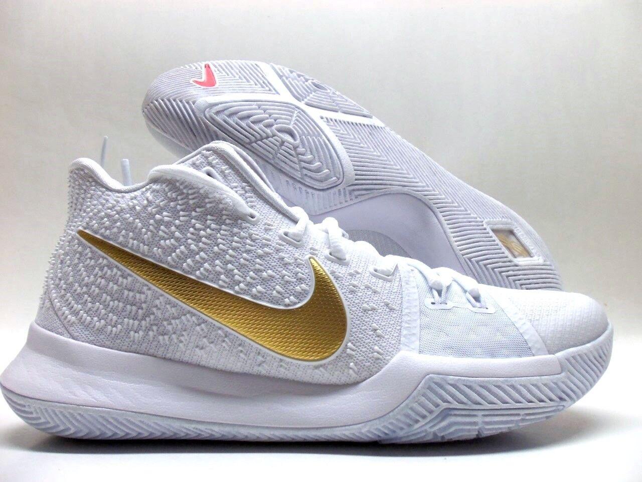 Nike kyrie 3 ep finale bianca / oro metallico dimensioni uomini 10 [852395-902]