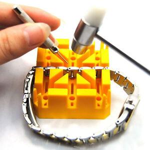 Uhr-Armband-Riemenhalter-Link-Pins-Remover-Uhrmacher-Reparatursatz-Werkzeug-fd