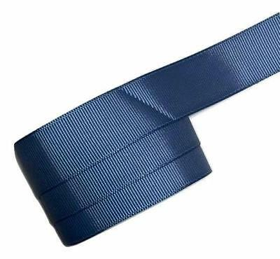 "5 yards Light navy blue 5//8/"" grosgrain ribbon by the yard DIY hair bows"