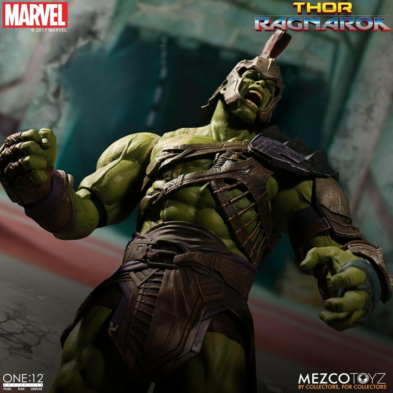 Mezco One 12 Collective Thor Ragnarok Gladiator Hulk Wirkung Figure NEW
