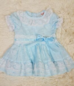 d1728378d Vtg Winnie the Pooh Sears Roebuck Baby Girl Size 12 Mo. Dress Blue ...