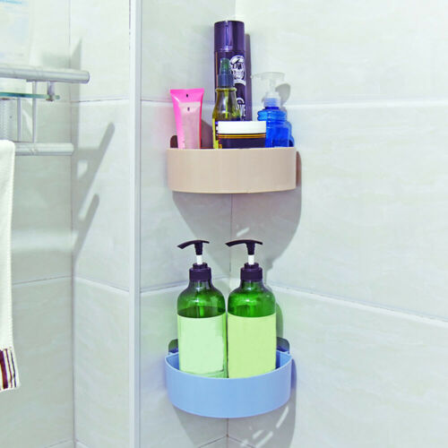 Free nail Corner Storage Rack Bathroom Shelf  Shampoo Organizer Shower Holder
