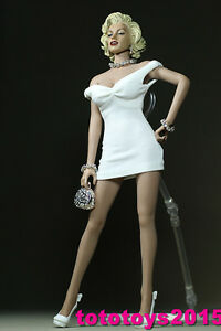 1-6-Scale-Woman-white-Skirt-for-12-034-Phicen-Seamless-Body-Model-TOY-Action-Figure