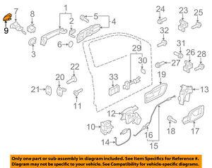 VW       VOLKSWAGEN    OEM 1218    Beetle       Door      Lock    Cylinder Cap Left