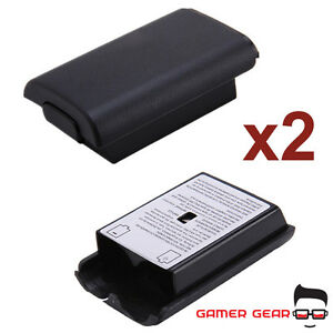 2x-Battery-Back-Cover-Case-Shell-Pack-for-Xbox-360-Controller-Black