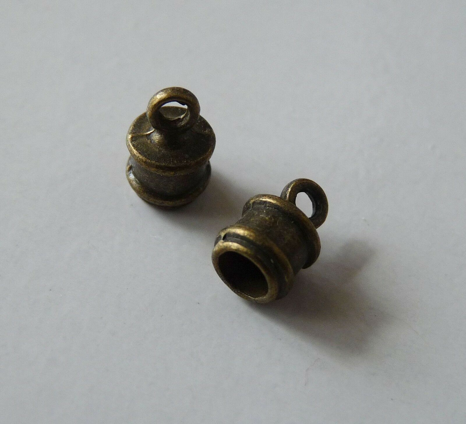 10x Leather Cord End Caps Bead Stoppers Silver//Bronze Tone Bracelet Tips Fit 3mm