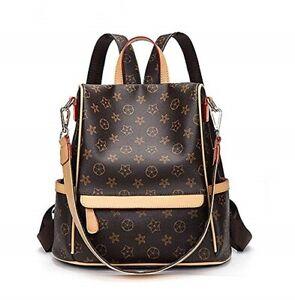 845a39624e5a Details about Leather Backpack for Women Designer Shoulder Bag Handbags  Travel Purse Crossbody