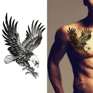 Waterproof Eagle Temporary Body Art Arm Shoulder Chest Tattoo