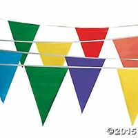 100 Foot Circus Carnival Birthday Party Pennant Garland Flag Banner Decoration
