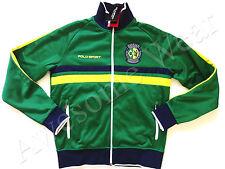 New Ralph Lauren Polo SPORT Green Poly Fleece Brazil Zip Up Track Jacket sz M