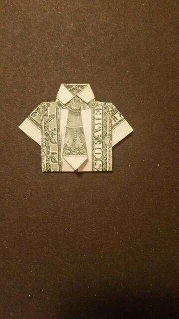 Money Origami Shirt and Tie Folding Instructions | 640x360